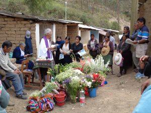 Gottesdienst an Todos Santos am Friedhof