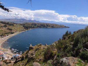 Aussicht auf den Titicacasee