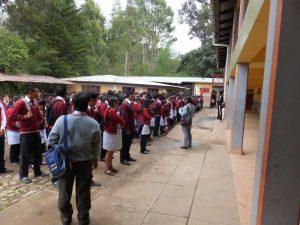 Formation der Schüler