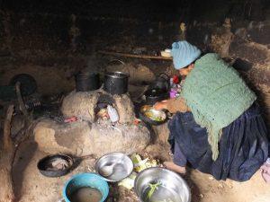 Das Kochen auf dem Land