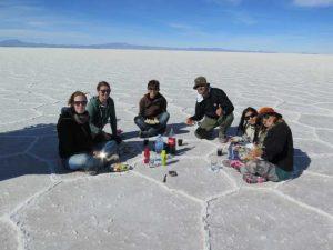 Picknick auf dem Salzsee
